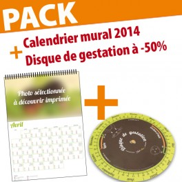Pack Calendrier mural 2014 + Disque GESTATION