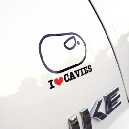 "Sticker ""I love cavies"""