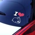 "Sticker ""I love LAPIN"""